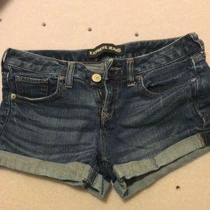 Express denim shorts